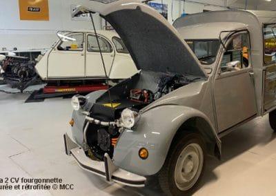 La Citroën 2 CV restaurée et rétrofitée